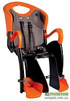 Детское велокресло Bellelli Tiger Relax B-fix на раму под седлом Черно-оранжевый