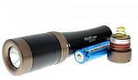 Фонарь (фонарик) подводный для дайвинга, подводной охоты BL 8770 Q5 5000W мощный светодиодный, аккумуляторный
