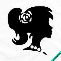 Наклейки на трехнитку Девочка с бусами [Свой размер и материалы в ассортименте]