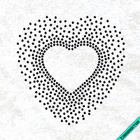 Термонаклейки на кардиганы Сердце (Стекло,2мм-гем.)