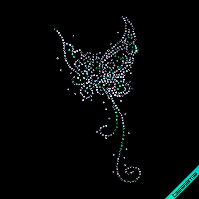 Декор на велюр Бабочка (Стекло,2мм-красн.,2мм-черн.,2мм-бел.)