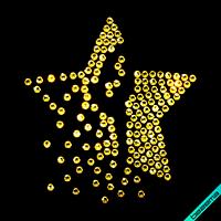 Стразы на бархат Звезда (Стекло,2мм-гем.), фото 1