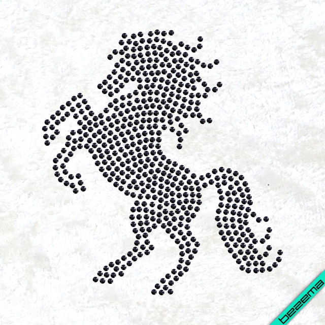 Термопринт на сандалии Лошадь (Стекло,4мм-красн.)