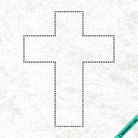 Декор на леггинсы Крест (Стекло,3мм-гем.)