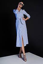Женское платье-рубашка в полоску (Рио jd), фото 3