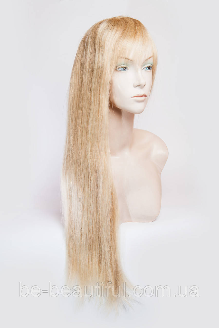 Натуральный парик №4, цвет мелирование светло-русый с блондом