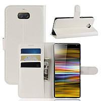 Чехол-книжка Litchie Wallet для Sony Xperia 10 Plus Белый, фото 1