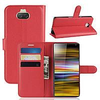 Чехол-книжка Litchie Wallet для Sony Xperia 10 Plus Красный, фото 1