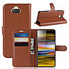 Чехол-книжка Litchie Wallet для Sony Xperia 10 Plus Коричневый