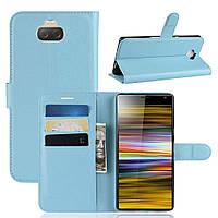 Чехол-книжка Litchie Wallet для Sony Xperia 10 Plus Голубой