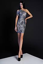 Женское облегающее платье-мини с принтом змеи (Сита jd), фото 2