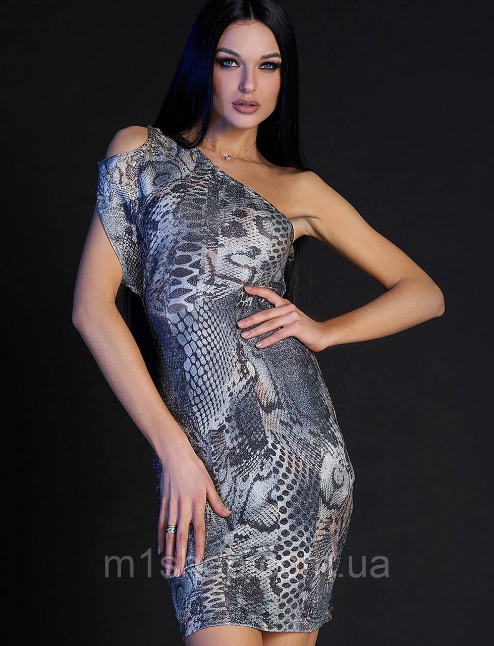 Женское облегающее платье-мини с принтом змеи (Сита jd)