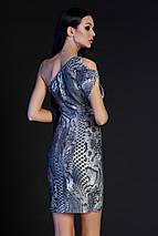 Женское облегающее платье-мини с принтом змеи (Сита jd), фото 3