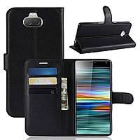 Чехол-книжка Litchie Wallet для Sony Xperia 10 Черный