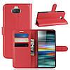 Чехол-книжка Litchie Wallet для Sony Xperia 10 Красный