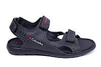 Мужские кожаные сандалии Columbia Track Black (реплика), фото 1