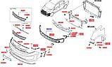 Решетка переднего бампера нижняя, Kia Rio 2015- YB, 865601w520, фото 6