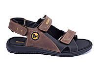 Мужские кожаные сандалии  Merrell late (реплика), фото 1
