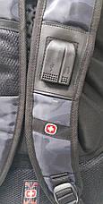 Спортивный, прогулочный прочный рюкзак копия Swissgear, USB-порт, аудиопорт, защитный чехол, фото 3