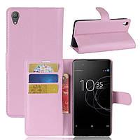 Чехол-книжка Litchie Wallet для Sony Xperia XA1 Plus G3412 Светло-розовый, фото 1