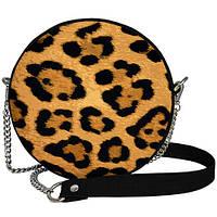 Женская круглая cумка Tablet Леопард 18х7см (RS_19A033_BL)