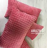 Подушка декоративная. Размер 50х30 см., Цвет Коралловый. , фото 3