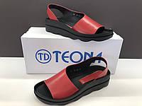 Женские кожаные босоножки Teona красные