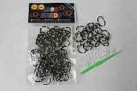 100 штук черно-белая (зебра) резиночек для плетения Loom Bands