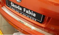 Накладка защитная на задний бампер Fabia 2007>> с загибом