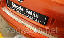 Захисна Накладка на задній бампер Fabia 2007>> з загином