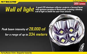 Фонарь светодиодный Nitecore TM06 , фото 2