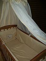 Постельный набор в детскую кроватку Bepino жакард 9 эл. Поликотон