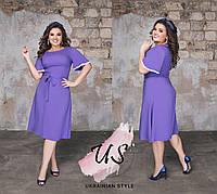 Короткое летнее однотонное платье больших размеров. 3 цвета!, фото 1
