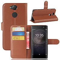 Чехол-книжка Litchie Wallet для Sony Xperia XA2 H4113 / H4133 Коричневый