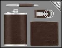 Деловой набор Moongrass 4 предмета №55-1,подарочный мужской набор 4 в 1 :ручка, брелок, зажигалка, партмане