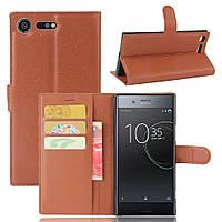 Чехол-книжка Litchie Wallet для Sony Xperia XZ Premium G8142 / G8141 Коричневый, фото 1