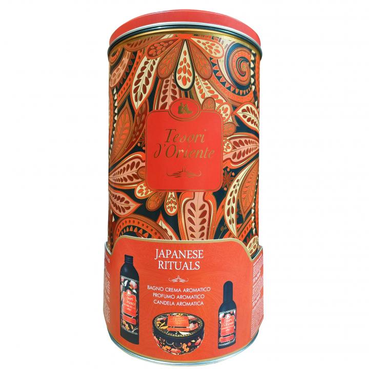 Tesori d´Oriente набор (Крем-масло + парфюм + свеча) цубаки и масло пиона
