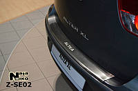Накладка защитная на задний бампер Seat ALTEA FREETRAСK 2007 с загибом