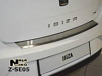 Накладка защитная на задний бампер Seat IBIZA IV 5D 2009>> c загибом