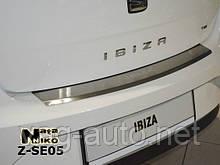 Захисна Накладка на задній бампер Seat IBIZA IV 5D 2009>> c загином