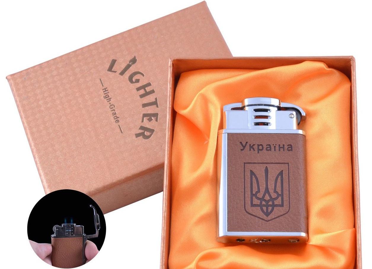 Зажигалка в подарочной упаковке Герб Украины (Острое пламя) №UA-9