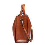 Модная женская сумка шоппер. Сумка тоут женская классическая (черная), фото 4