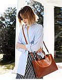 Модная женская сумка шоппер. Сумка тоут женская классическая (черная), фото 5