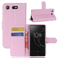 Чехол-книжка Litchie Wallet для Sony Xperia XZ1 Compact Светло-розовый, фото 1