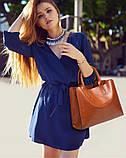 Модная женская сумка шоппер. Сумка тоут женская классическая (черная), фото 7