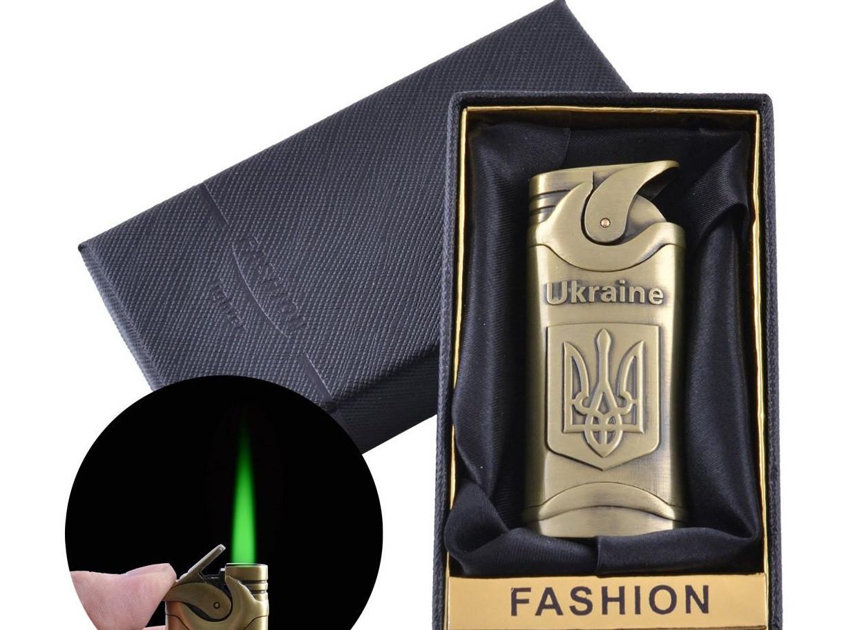 Зажигалка в подарочной упаковке Герб Украины (Турбо пламя) №UA-2