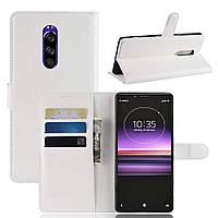 Чехол-книжка Litchie Wallet для Sony Xperia XZ4 / Xperia 1 Белый, фото 1