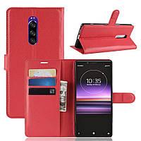 Чехол-книжка Litchie Wallet для Sony Xperia XZ4 / Xperia 1 Красный