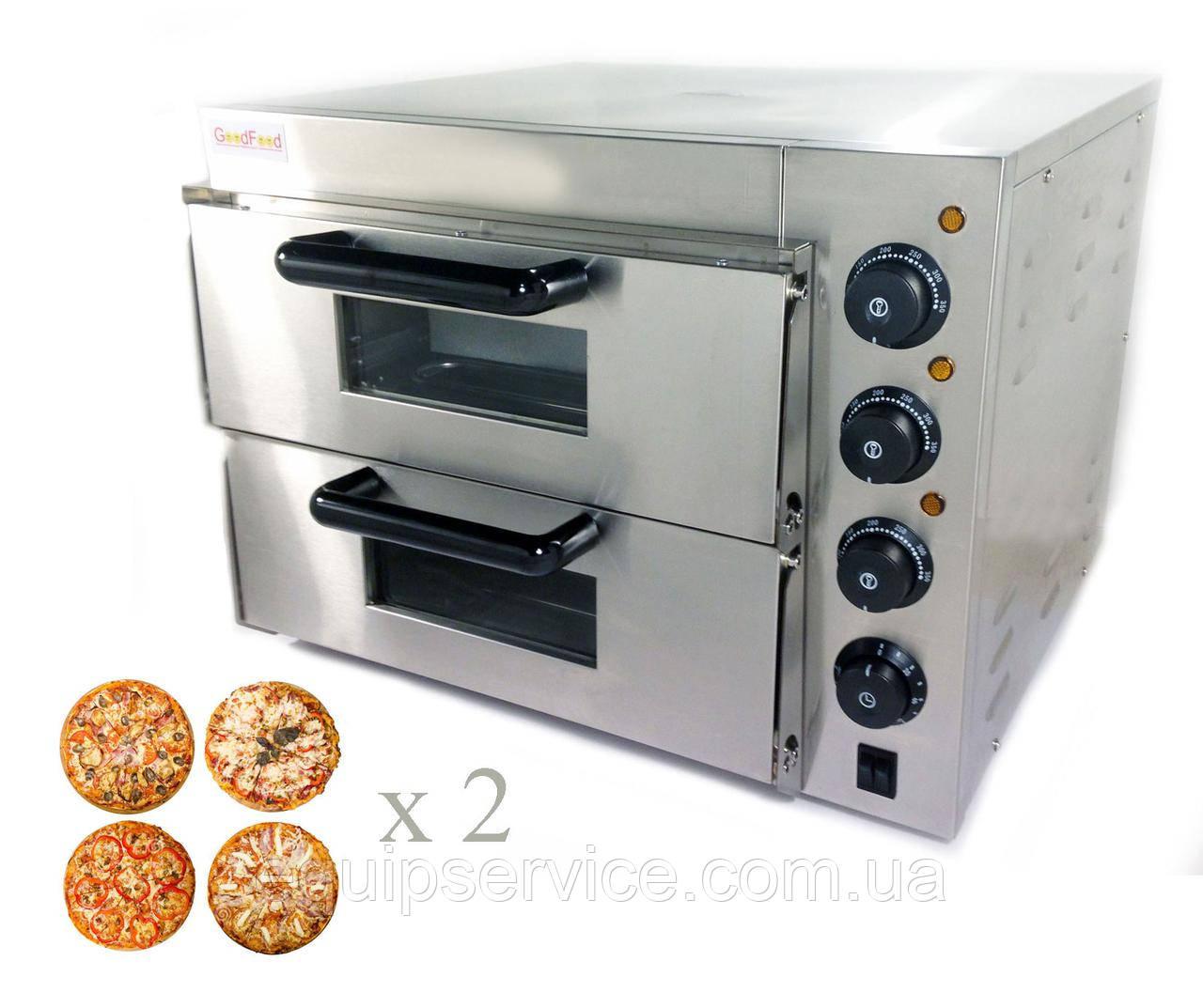 Печь для пиццы 4+4х20 электрическая GoodFood PO2, фото 1