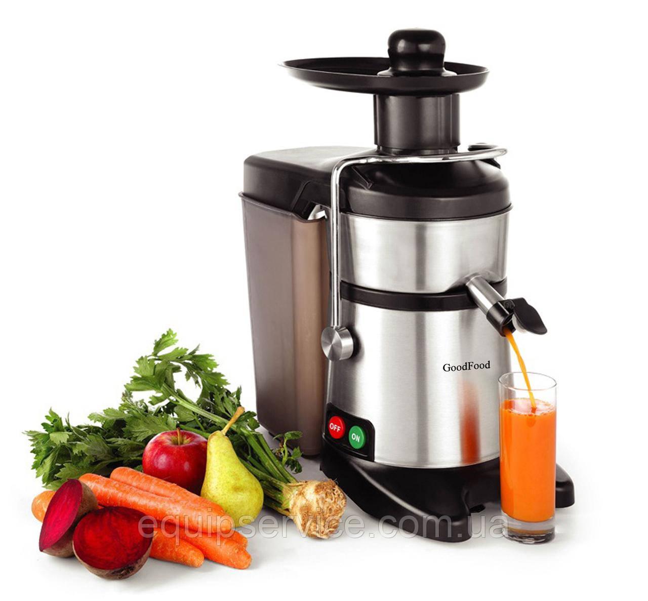 Соковыжималка эл. для твердых овощей и фруктов GoodFood FJ200